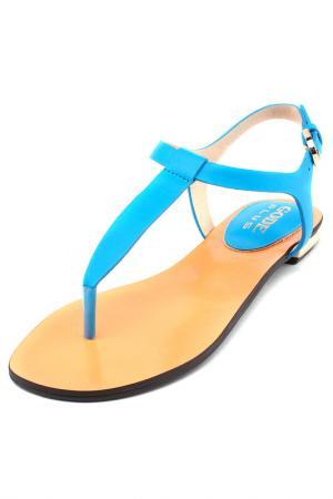 Сандалии Gode. Цвет: голубой, оранжевый
