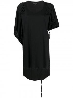 Contrast sleeve oversized T-shirt Ann Demeulemeester. Цвет: черный