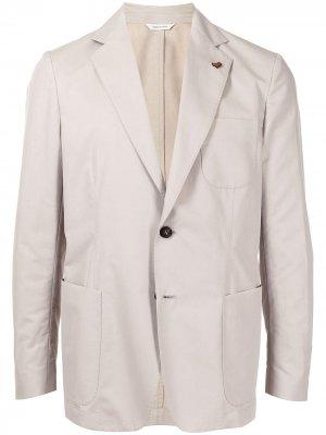 Однобортный пиджак Colombo. Цвет: коричневый