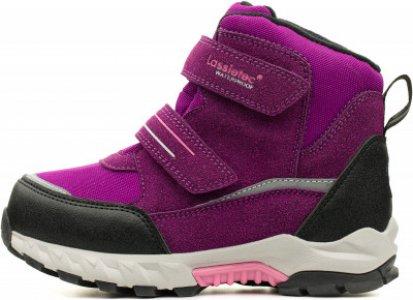 Ботинки утепленные для девочек Valiant, размер 29 LASSIE. Цвет: фиолетовый