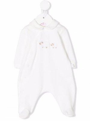 Комбинезон для новорожденного с вышивкой Il Gufo. Цвет: белый