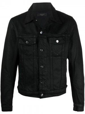Вощеная джинсовая куртка AMIRI. Цвет: черный