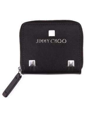 Кошельки и визитницы Jimmy Choo. Цвет: чёрный