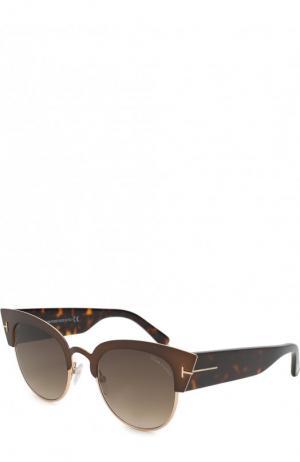 Солнцезащитные очки Tom Ford. Цвет: коричневый