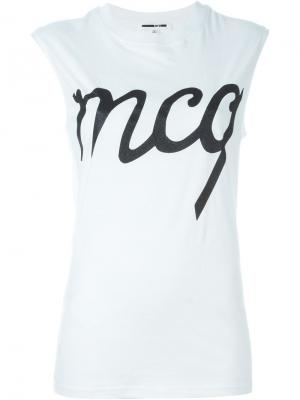 Майка с принтом логотипа McQ Alexander McQueen. Цвет: белый