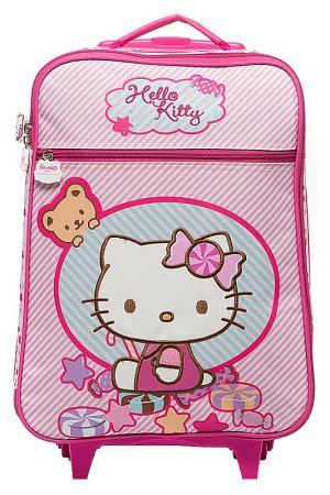 Чемодан на колесах Hello Kitty. Цвет: розово-серый