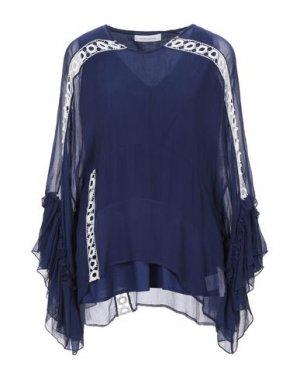 Блузка PIERRE BALMAIN. Цвет: синий