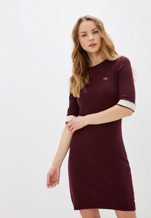 Платье Lacoste. Цвет: бордовый