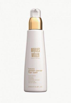 Шампунь Marlies Moller для волос жидкое золото Luxury Golden Caviar, 200 мл. Цвет: прозрачный