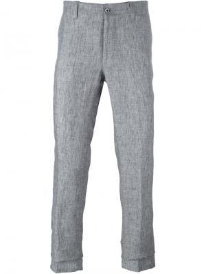 Классические брюки-чинос Corneliani. Цвет: серый