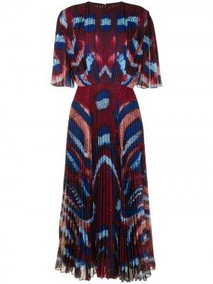 Плиссированное платье Constance Altuzarra. Цвет: коричневый