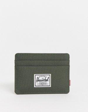 Визитница цвета хаки с защитой от RFID-устройств -Зеленый Herschel Supply Co