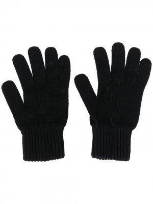 Перчатки Bax тонкой вязки Calvin Klein. Цвет: черный