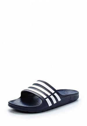 Сланцы adidas Duramo Slide. Цвет: синий