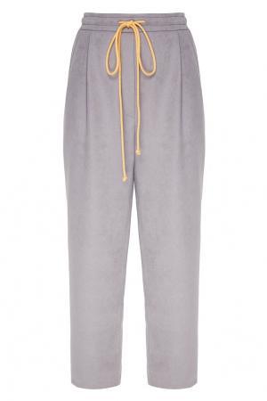 Спортивные брюки с желтой кулиской Bumblebee x Chapurin. Цвет: серый