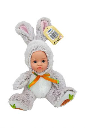 Игрушка Мой зайчонок Fluffy Family. Цвет: серый