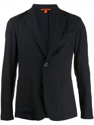 Однобортный пиджак узкого кроя Barena. Цвет: синий