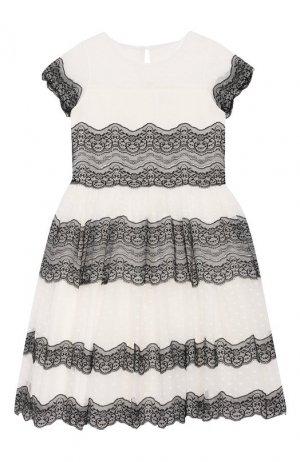 Платье Aletta. Цвет: черно-белый