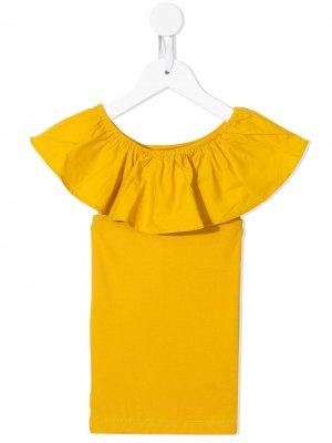 Платье с оборками Molo. Цвет: желтый