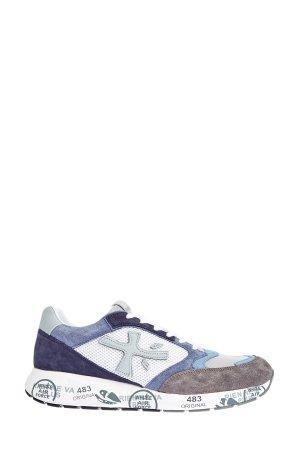 Эргономичные кроссовки ZacZac из мембраны и замши PREMIATA. Цвет: мульти