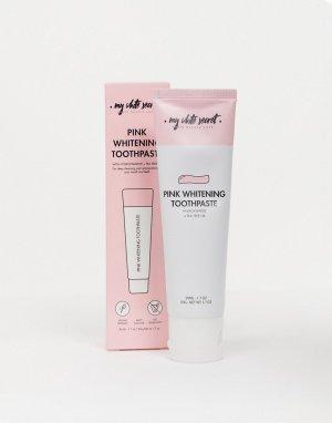 Розовая отбеливающая зубная паста 60 мл -Бесцветный My White Secret