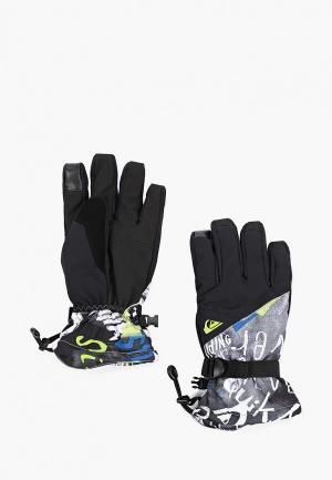 Перчатки горнолыжные Quiksilver. Цвет: черный