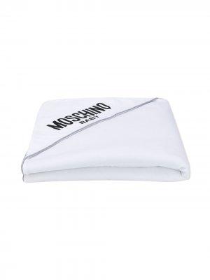 Одеяло с логотипом Moschino Kids. Цвет: серый