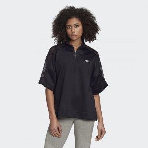 Футболка Quarter-Zip Originals adidas. Цвет: черный