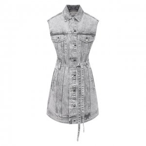 Джинсовое платье Rag&Bone. Цвет: серый