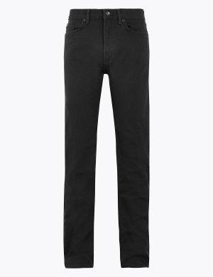 Прямые джинсы 360 Flex M&S Collection. Цвет: черный