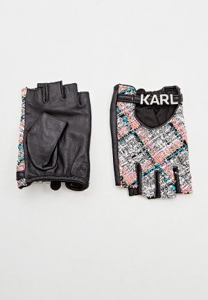 Митенки Karl Lagerfeld. Цвет: серый