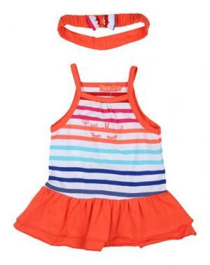 Платье LITTLE MARCEL. Цвет: коралловый
