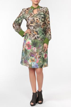 Платье Polin. Цвет: оливковый