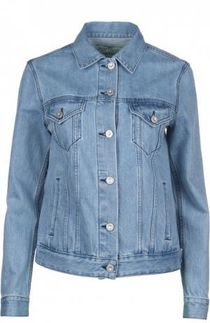 Джинсовая куртка Etre Cecile. Цвет: голубой