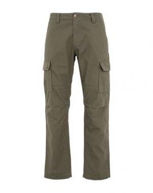 Повседневные брюки DICKIES. Цвет: зеленый-милитари