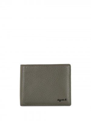 Бумажник с логотипом agnès b.. Цвет: зеленый