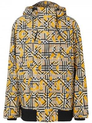 Куртка в клетку Vintage Check с капюшоном Burberry. Цвет: нейтральные цвета