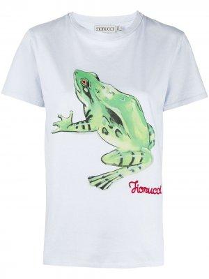 Футболка Woodland с принтом Frog Fiorucci. Цвет: синий
