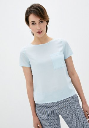 Блуза Kira Plastinina. Цвет: голубой
