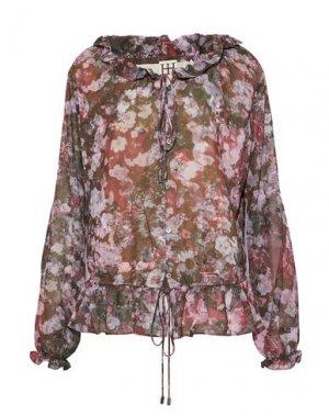 Блузка HAUTE HIPPIE. Цвет: зеленый-милитари