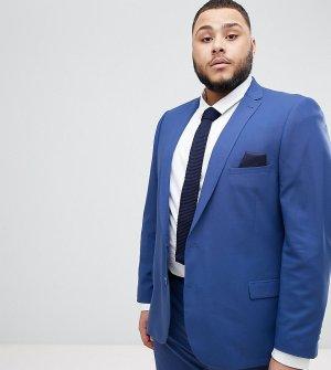Синий приталенный пиджак -Голубой Jacamo