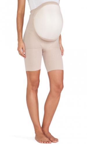 Боди для беременных power mama до половины бедра SPANX. Цвет: nude