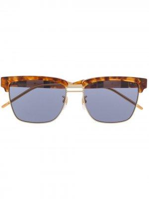 Солнцезащитные очки в квадратной оправе Gucci Eyewear. Цвет: коричневый