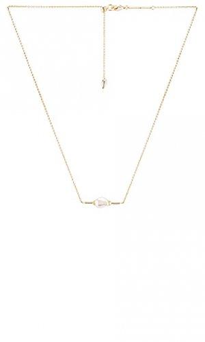 Ожерелье emberly Kendra Scott. Цвет: металлический золотой