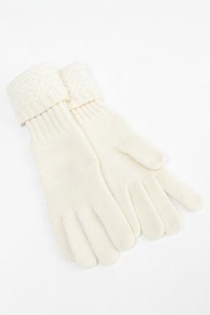 Перчатки Salvatore Ferragamo. Цвет: молочный