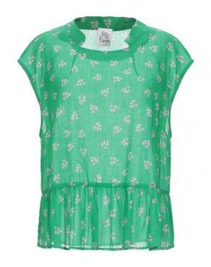 Блузка ATTIC AND BARN. Цвет: зеленый
