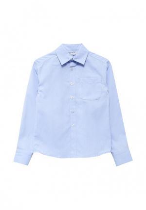 Рубашка Смена. Цвет: голубой