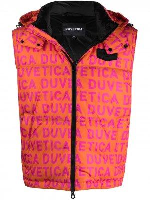 Дутый жилет с логотипом Duvetica. Цвет: оранжевый