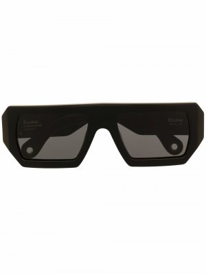 Солнцезащитные очки Sauvage в квадратной оправе Etudes. Цвет: черный