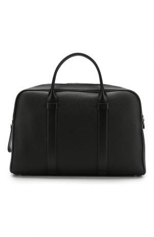 Кожаная сумка для ноутбука с плечевым ремнем Tom Ford. Цвет: чёрный